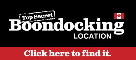 Top Secret Boondocking Location